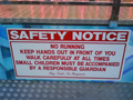 The Ice Maze's prominent Safety Warning message
